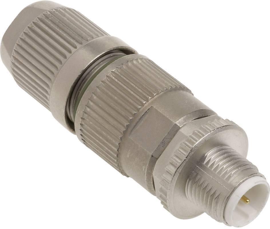 Dátový zástrčkový konektor pre senzory - aktory Harting HARAX® M12-L 21 03 241 1301, 1 ks
