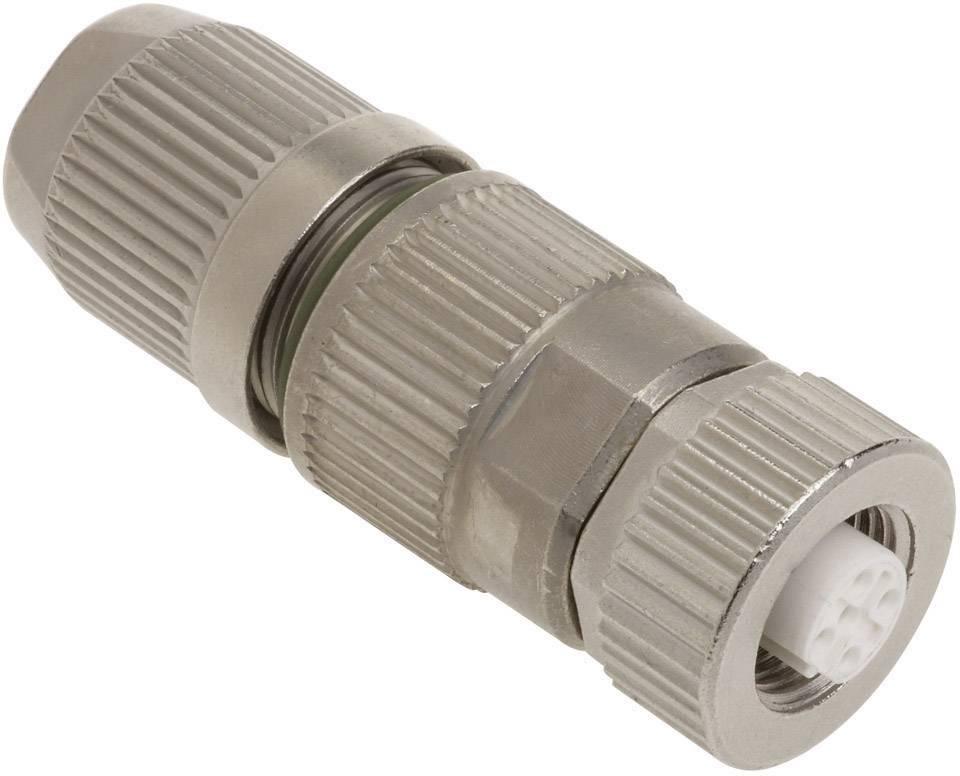 Dátový zástrčkový konektor pre senzory - aktory Harting HARAX® M12-L 21 03 241 2301, 1 ks