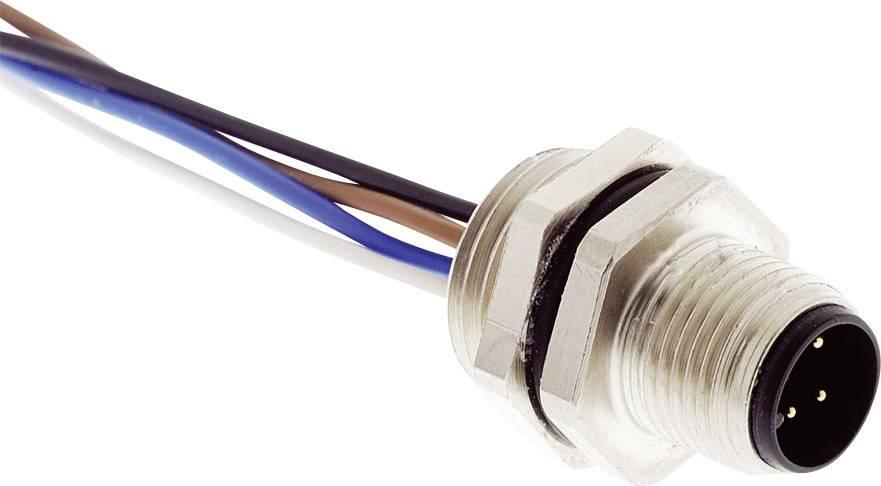 Konektor do steny/panelu s prívodom M12 Harting 21 03 311 1402, zástrčka zabud., IP65/67