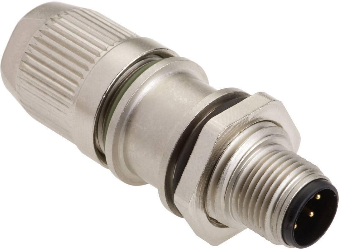 Neupravený zástrčkový konektor pre senzory - aktory Harting HARAX® M12-L 21 03 321 1425, 1 ks