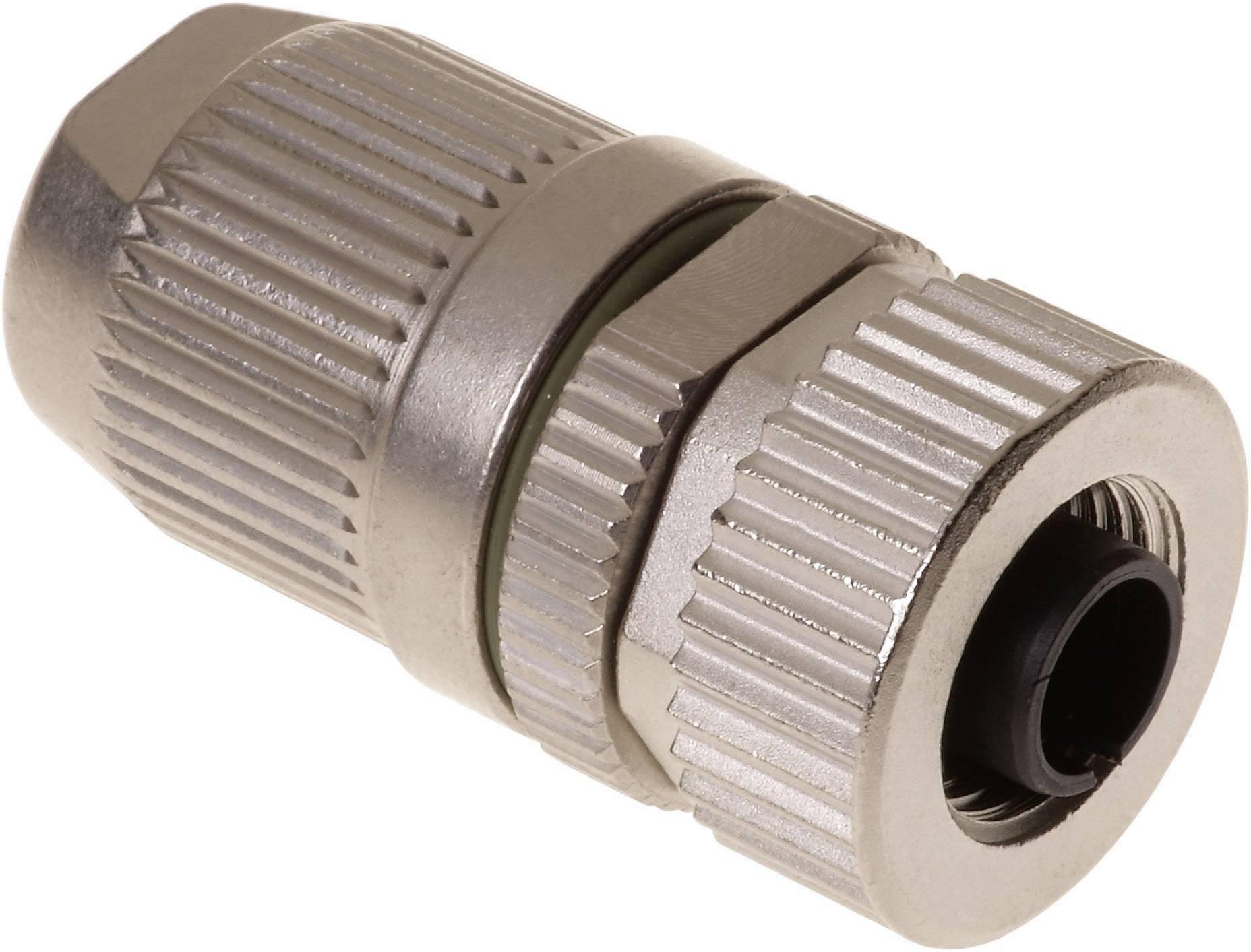 Konektor do steny/panelu M12 krimpovacie Harting 21 03 812 2405, zásuvka rovná, IP67