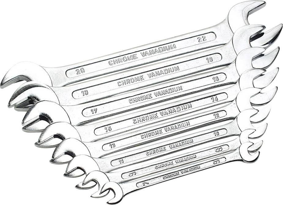 Sada plochých klíčů Mannesmann110-08 DIN, 6 - 22 mm, 8 ks