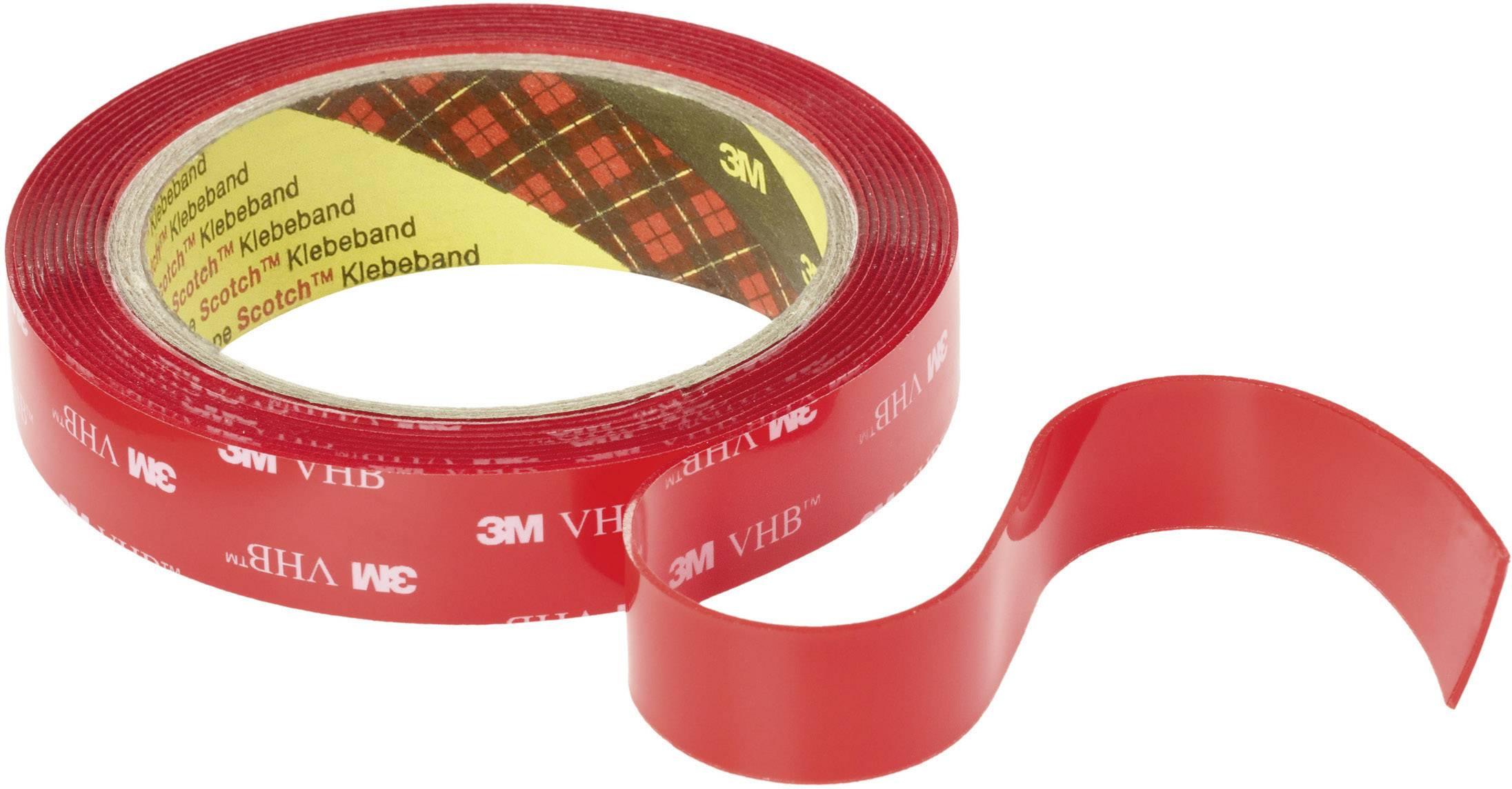 Obojstranná lepiaca páska 3M VHB™ 4910F 7000072294, (d x š) 3 m x 19 mm, priehľadná, 1 roliek