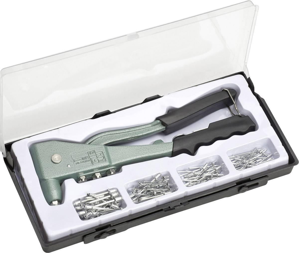 Sada nitovacích klieští Meister Werkzeuge 100 st, vrátane 100 ks nitov