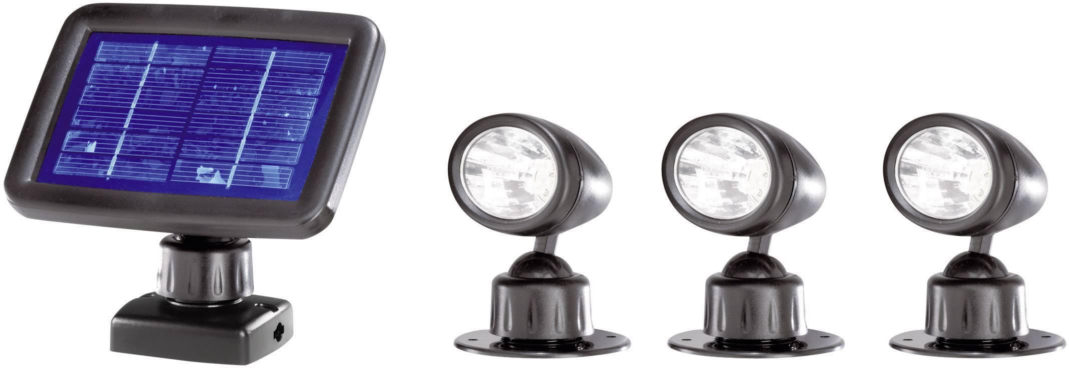 Solárne LED svietidlo Renkforce, čierne