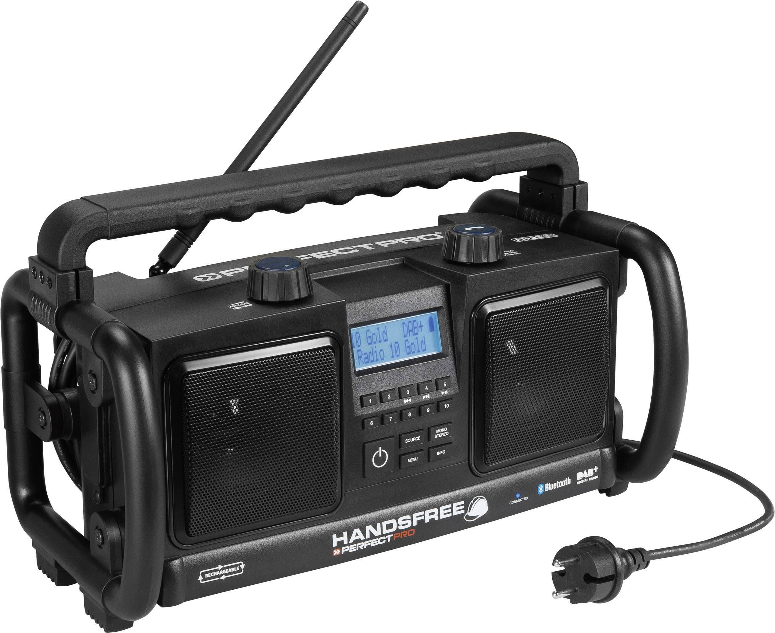 Stavební DAB+ rádio PerfectPro Handsfree, HF1, FM, aku