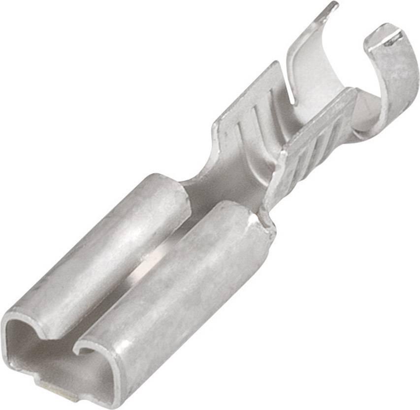 Faston konektor zásuvka TE Connectivity 5-160506-2 6.3 mm x 0.8 mm, 180 °, neizolované, 1 ks