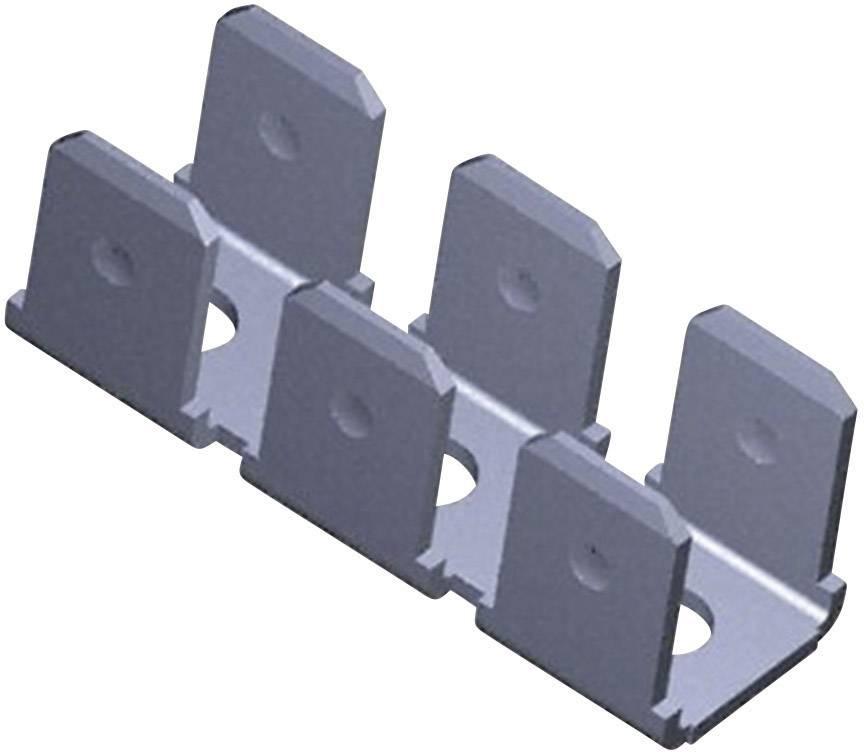 Faston zástrčka pro připájení do DPS TE Connectivity 41482, šířka 6.3 mm bez izolace, kov, 1 ks