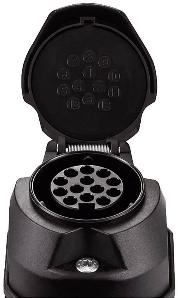 Zásuvka na zapojenie prívesu SecoRüt 30130, [13 pólová zásuvka - 13 pólová zástrčka], 12 V