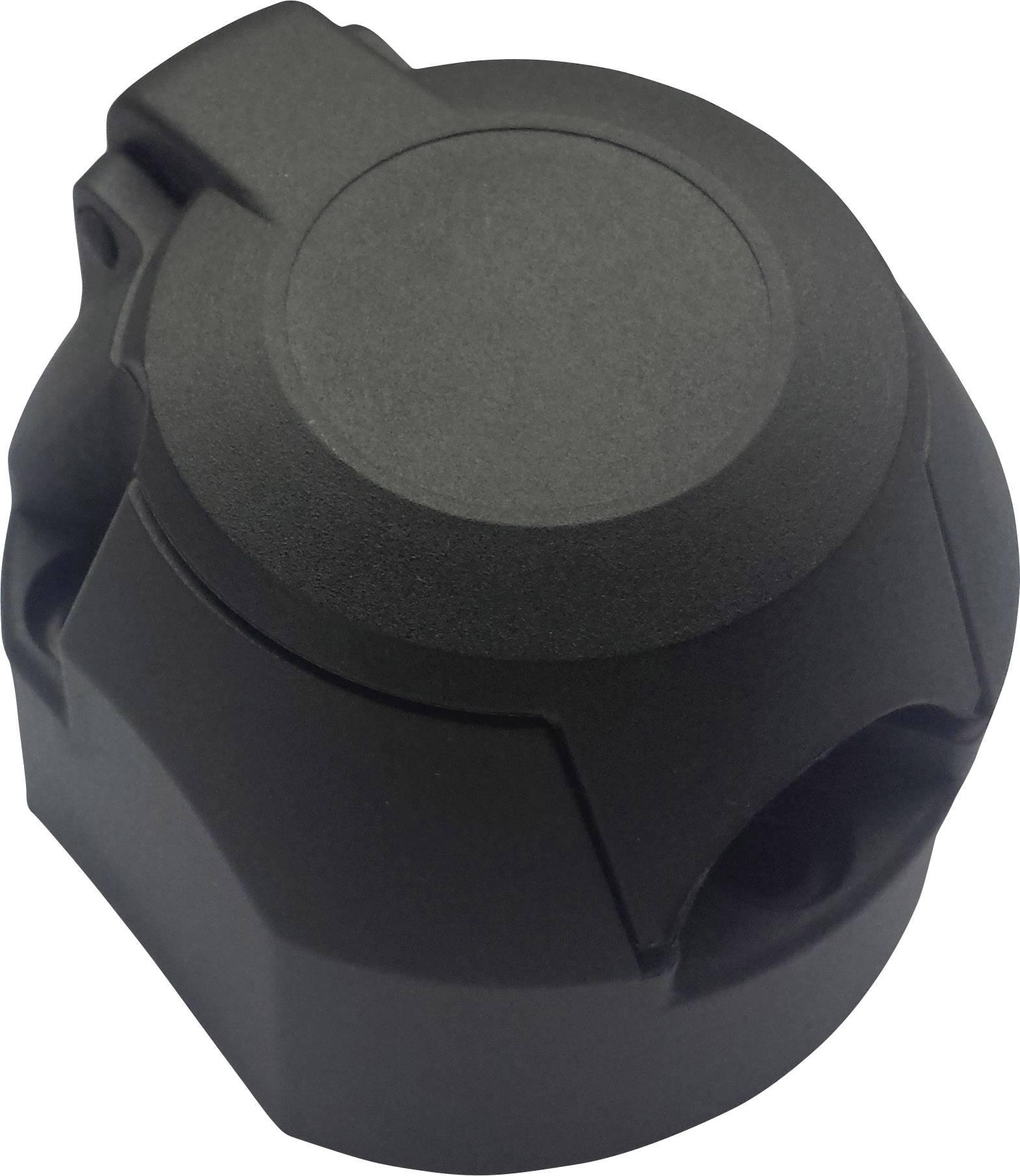 Adaptér pro zapojení přívěsu SecoRüt 20140, [7 pólová zásuvka - 7 pólová zástrčka], 12 V