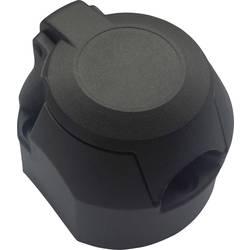 Zásuvka pro zapojení přívěsu SecoRüt 20140, [7 pólová zásuvka - 7 pólová zástrčka], 12 V, plast ABS