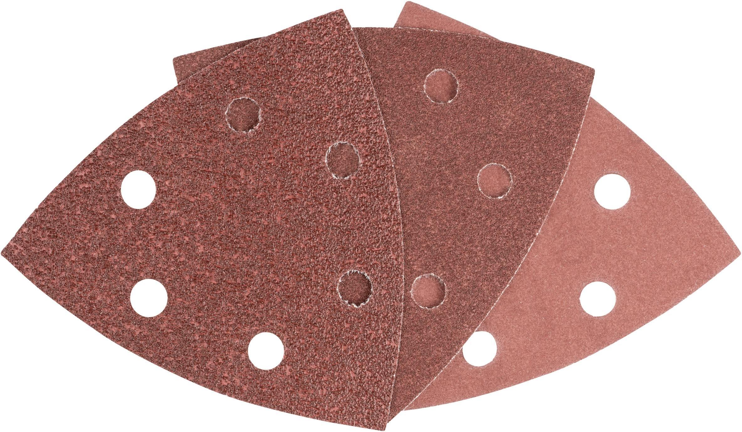 Sada brúsneho papiera pre delta brúsky Bosch Accessories 93 MM 6 2608605191 na suchý zips, s otvormi, zrnitosť 60, 120, 240, 1 sada