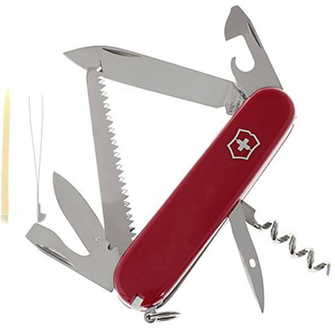 Švýcarský kapesní nožík Victorinox Camper, nerezová ocel, červená