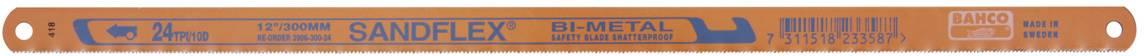 Sada listů ruční pily na kov Bahco 3906-300-3P, 3 ks, 300 mm