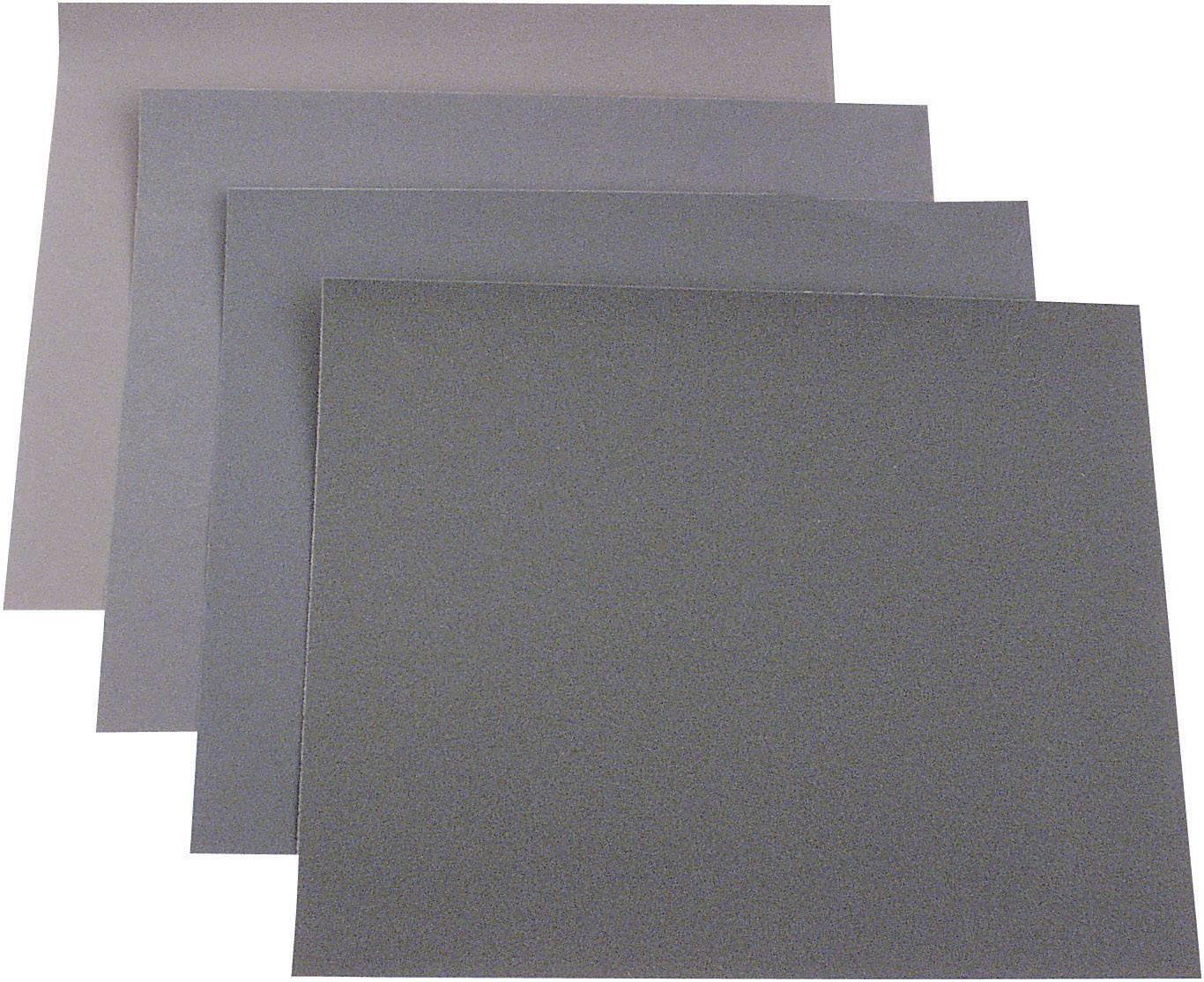 Sada ručného brúsneho papiera 812329 zrnitosť 180, 240, 400, 600, (d x š) 280 mm x 230 mm, 20 ks