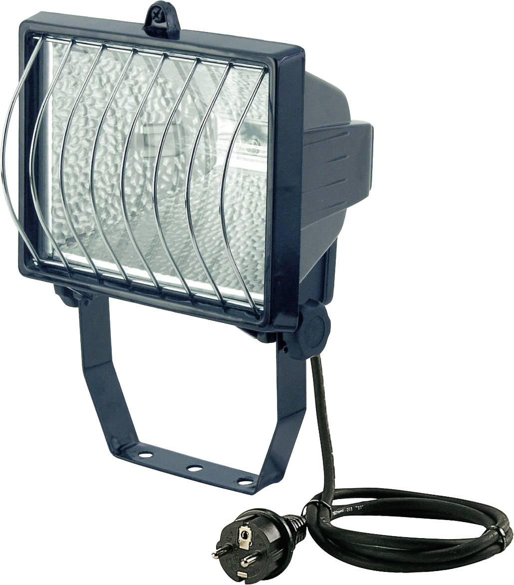 Vonkajší halogénový reflektor Brennenstuhl H 500, 500 W, vr. kábla a žiarovky R7s, čierny