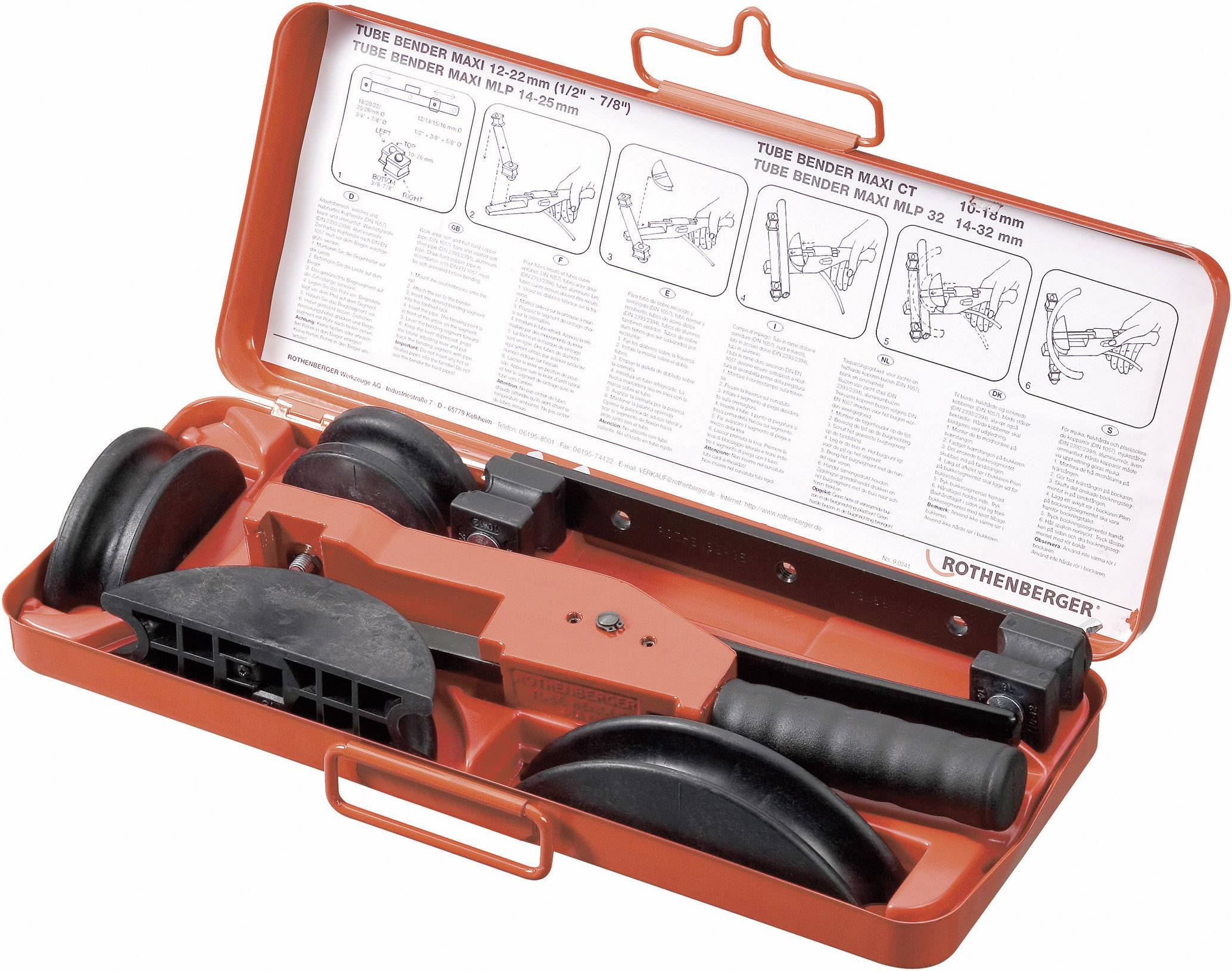 Ohýbačka trubek Rothenberger, 12-15-18-22 mm