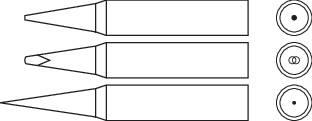 Náhradní pájecí hrot Star Tec 80154, 1 mm