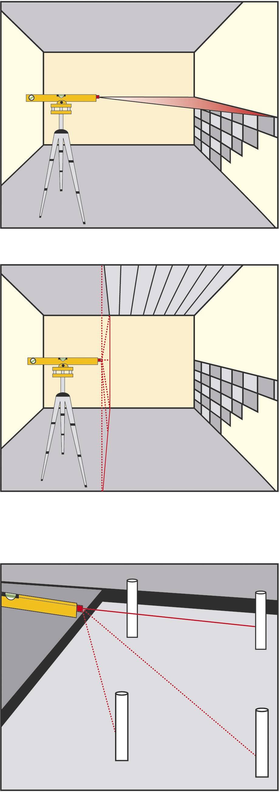 Laserová vodováha so statívom, Brüder Mannesmann 81110, merací rozsah 30 m
