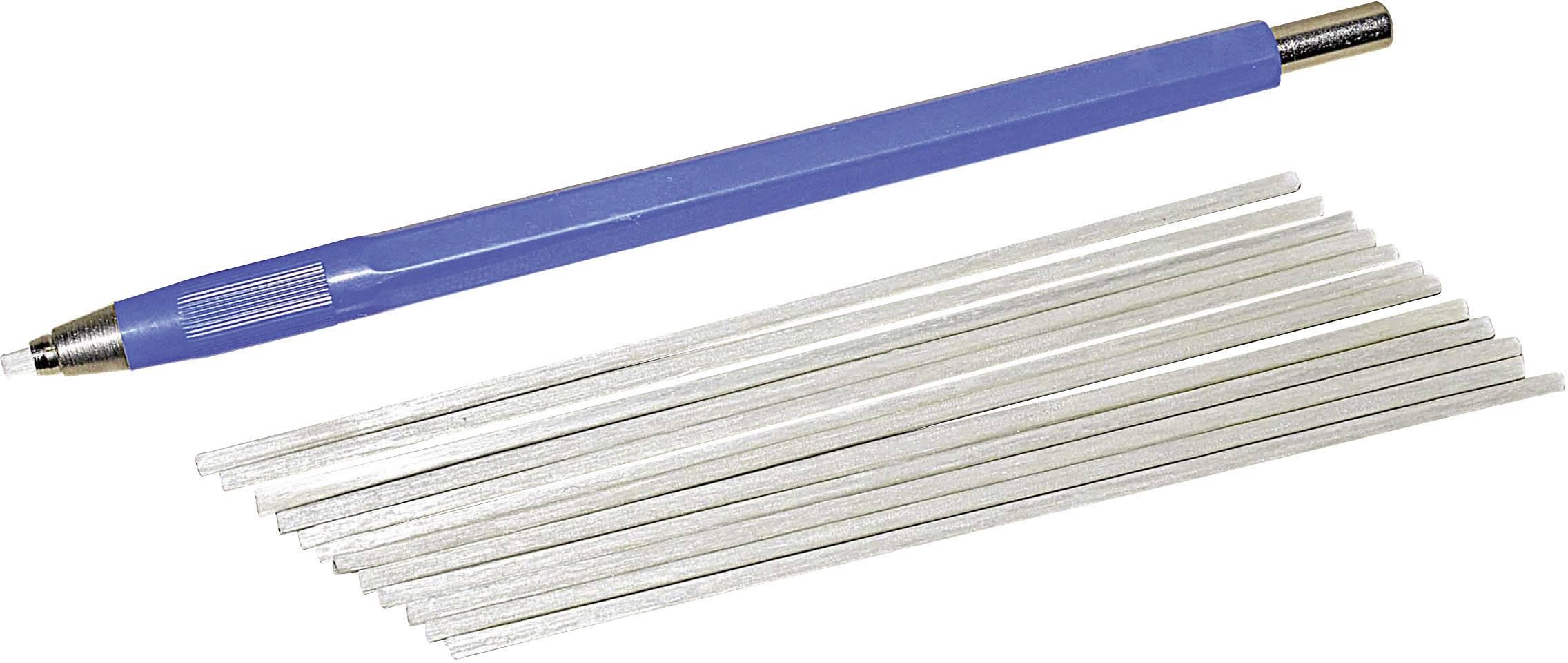 Brusná tužka + štětec ze skleněných vláken 2 mm - 12 ks