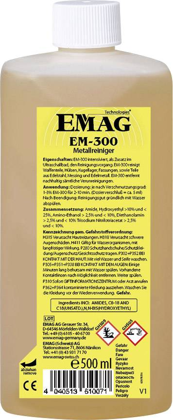 Špeciálny koncentrát Emag pre tažké kovy (platina, mosadz, atď.)