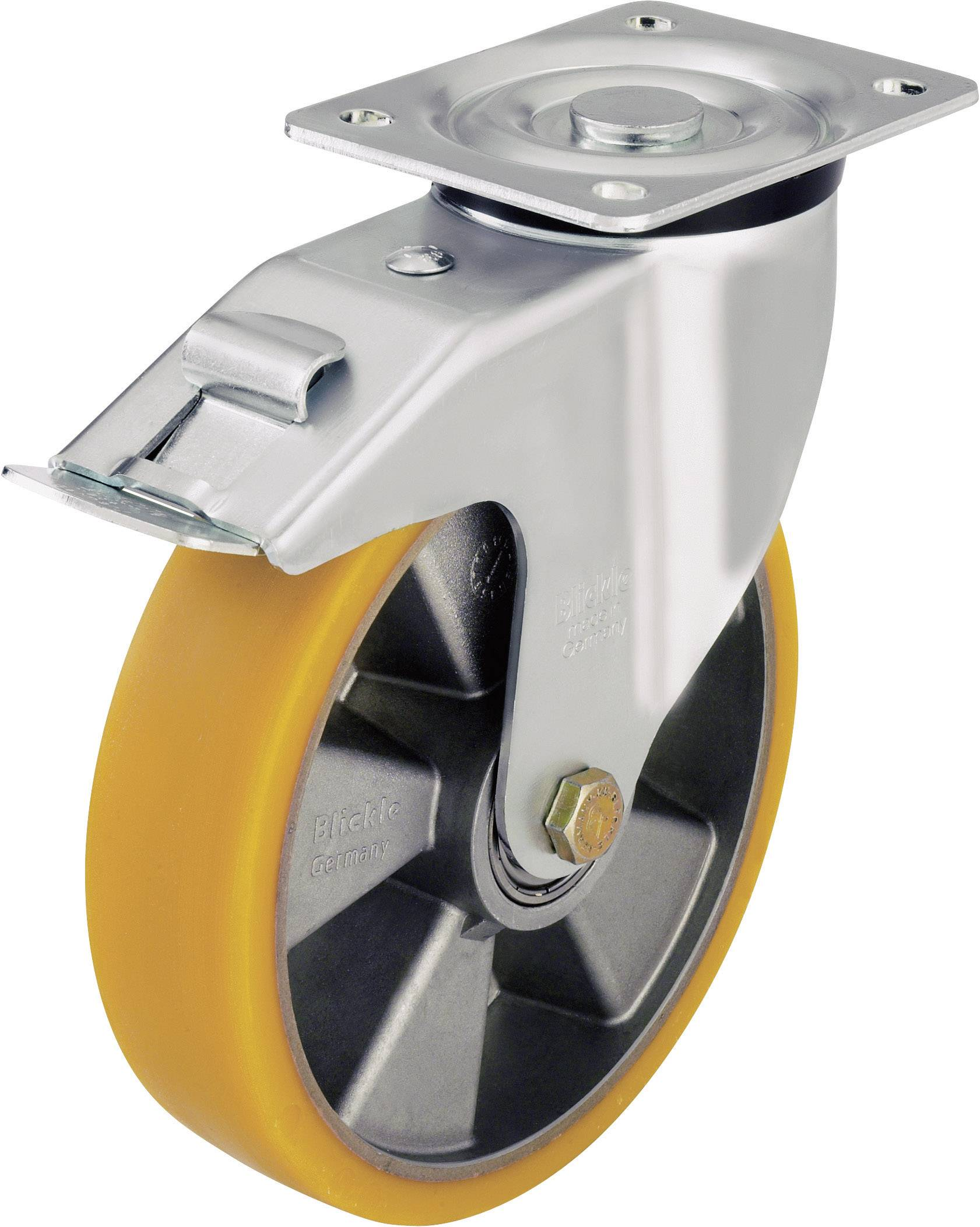 Otočné kolečko s konstrukční deskou a brzdou, Ø 125 mm, Blickle 419 796, L-ALTH