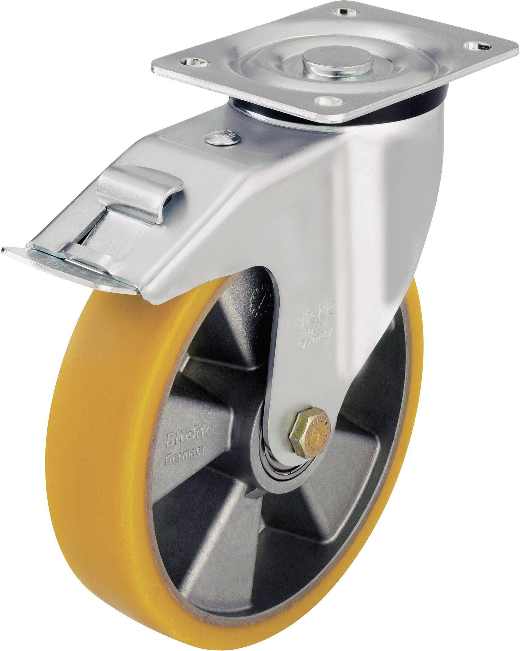 Otočné kolečko s konstrukční deskou a brzdou, Ø 125 mm, Blickle LK-ALTH 125K-1-FI