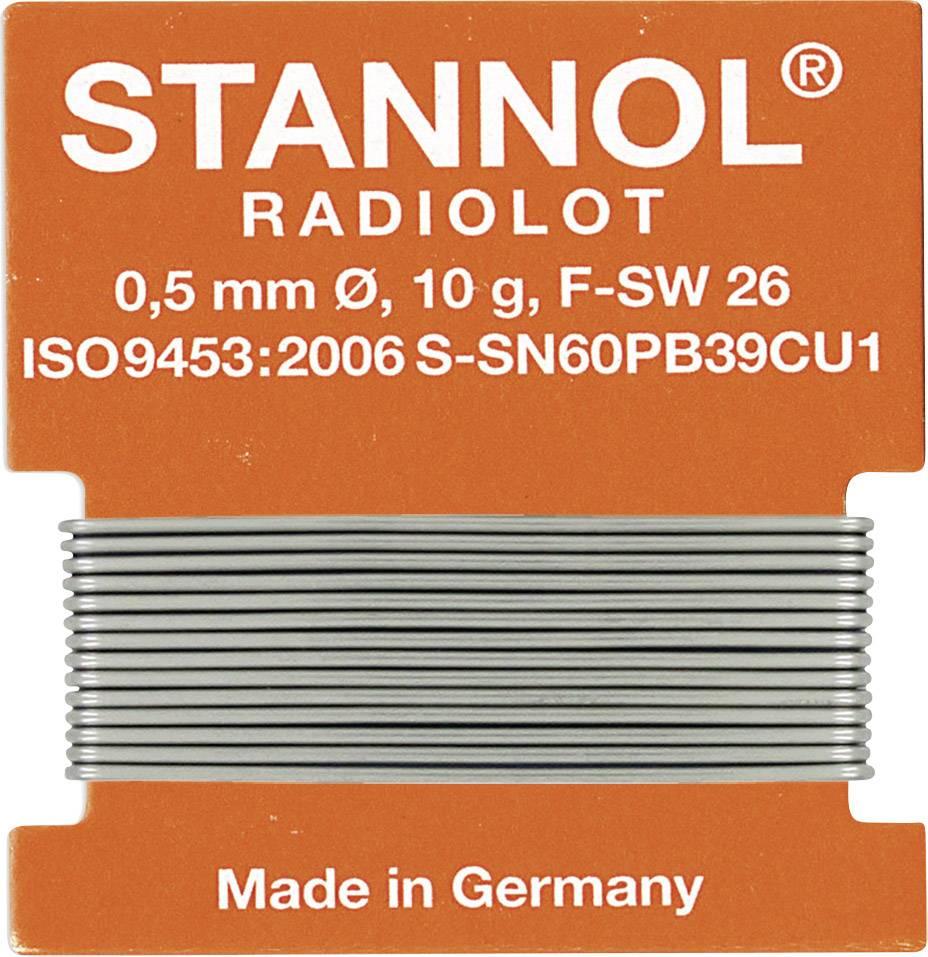 Cínová pájka, Sn60Pb39Cu1, Ø 0,5 mm, 10 g, Stannol