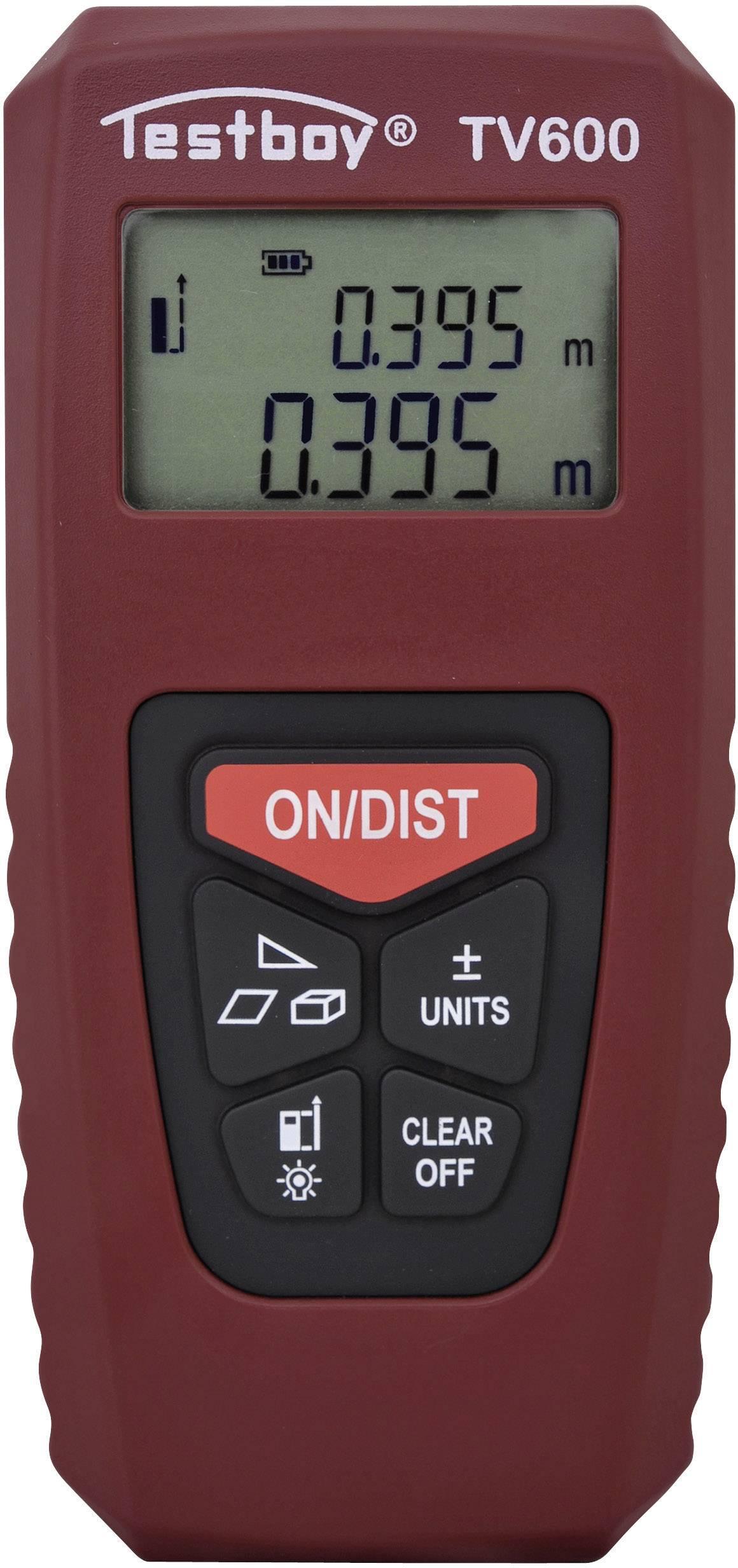 Infračervený měřič vzdálenosti Testboy TV 600 Testboy TV 600, rozsah měření (max.) 40 m