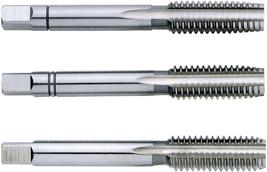 Sada ručních HSS závitníků Exact 1610016, metrické, pravořezné, DIN 352, M6, 50 mm, 3 ks