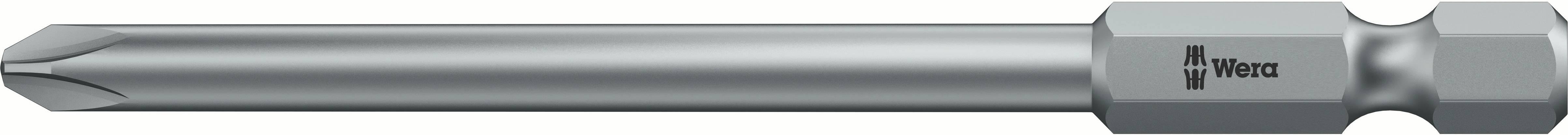 Predĺžený krížový bit Wera 851/4 Z PH 1 x 89 mm;4.5 mm 05059760001, nástrojová oceľ, 1 ks