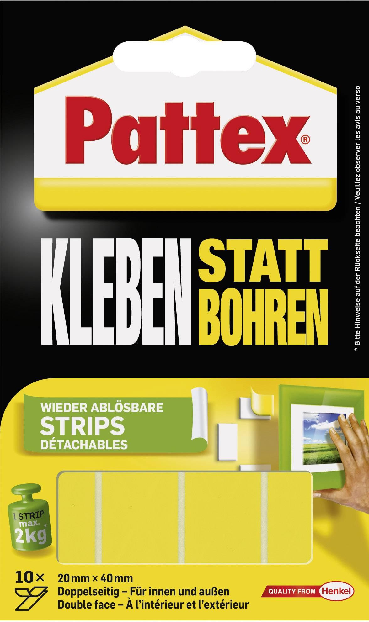 Obojstranná lepiaca páska Pattex PXMS1 PXMS1, (d x š) 40 mm x 20 mm, 10 ks