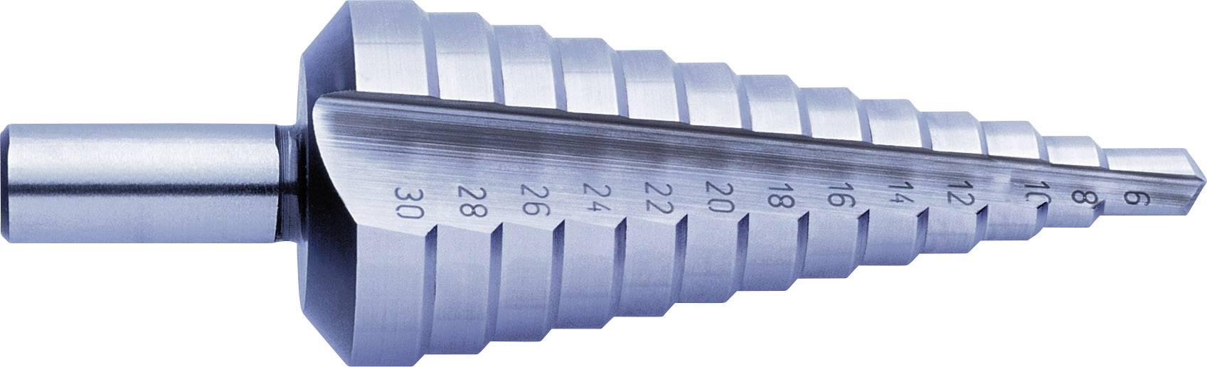 HSS stupňovitý vrták Exact 1605329 SB-VERPACKUNG, 6 - 30 mm, celková dĺžka 98 mm, kužeľový záhlbník, 1 ks