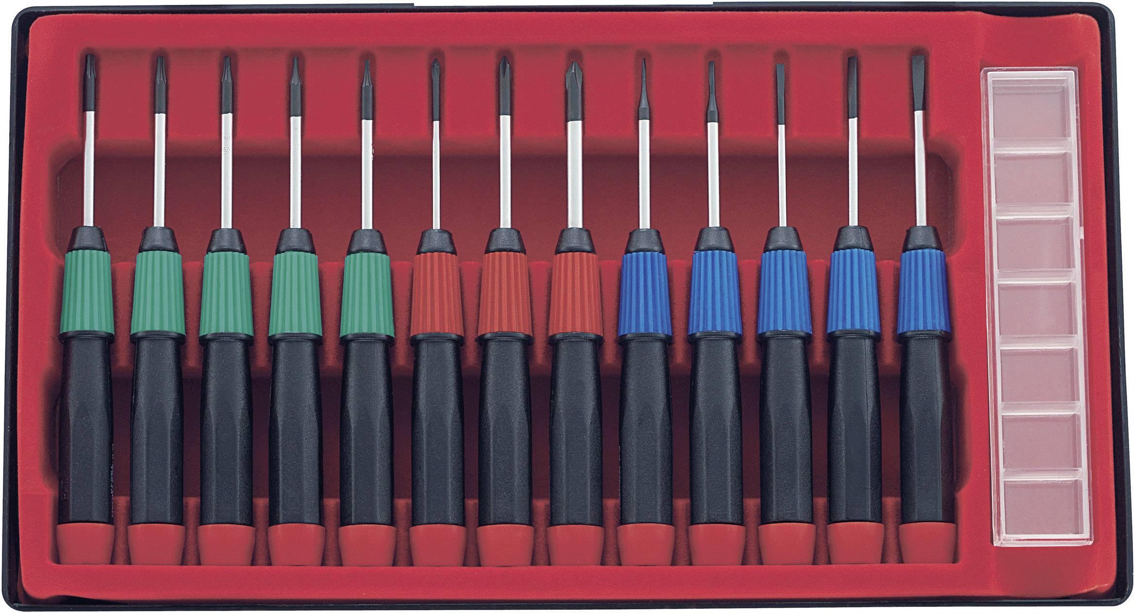 Sada skrutkovačov pre elektroniku a jemnú mechaniku Basetech 813679, 14-dielna