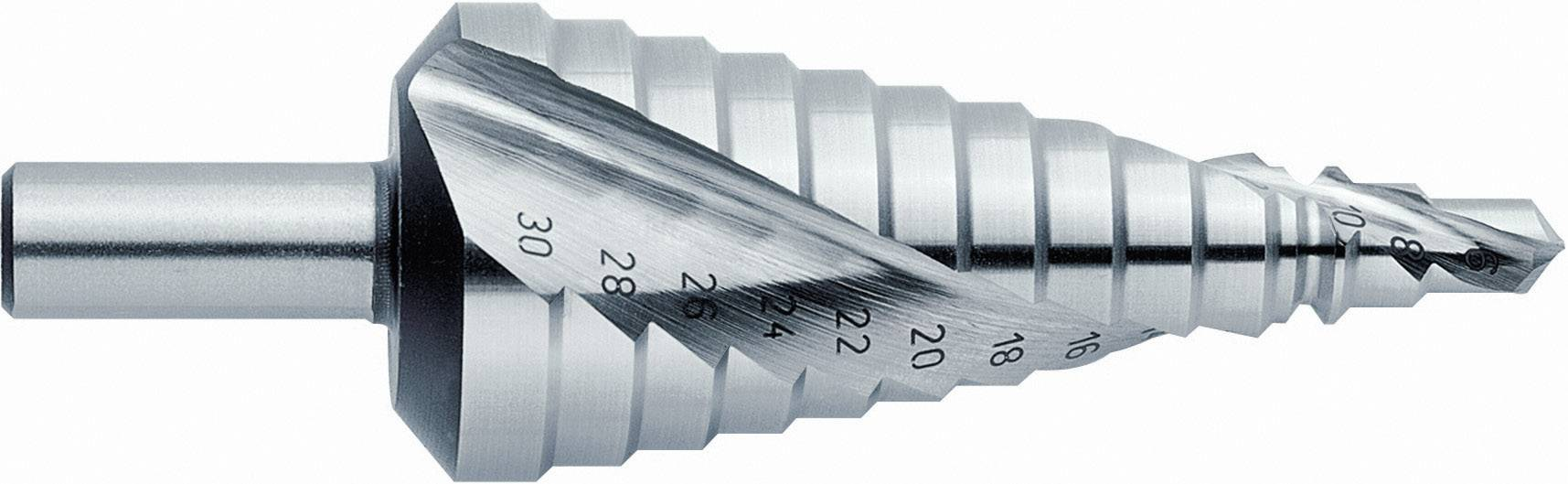 HSS stupňovitý vrták Exact 07003, 6 - 30 mm, kužeľový záhlbník, 1 ks