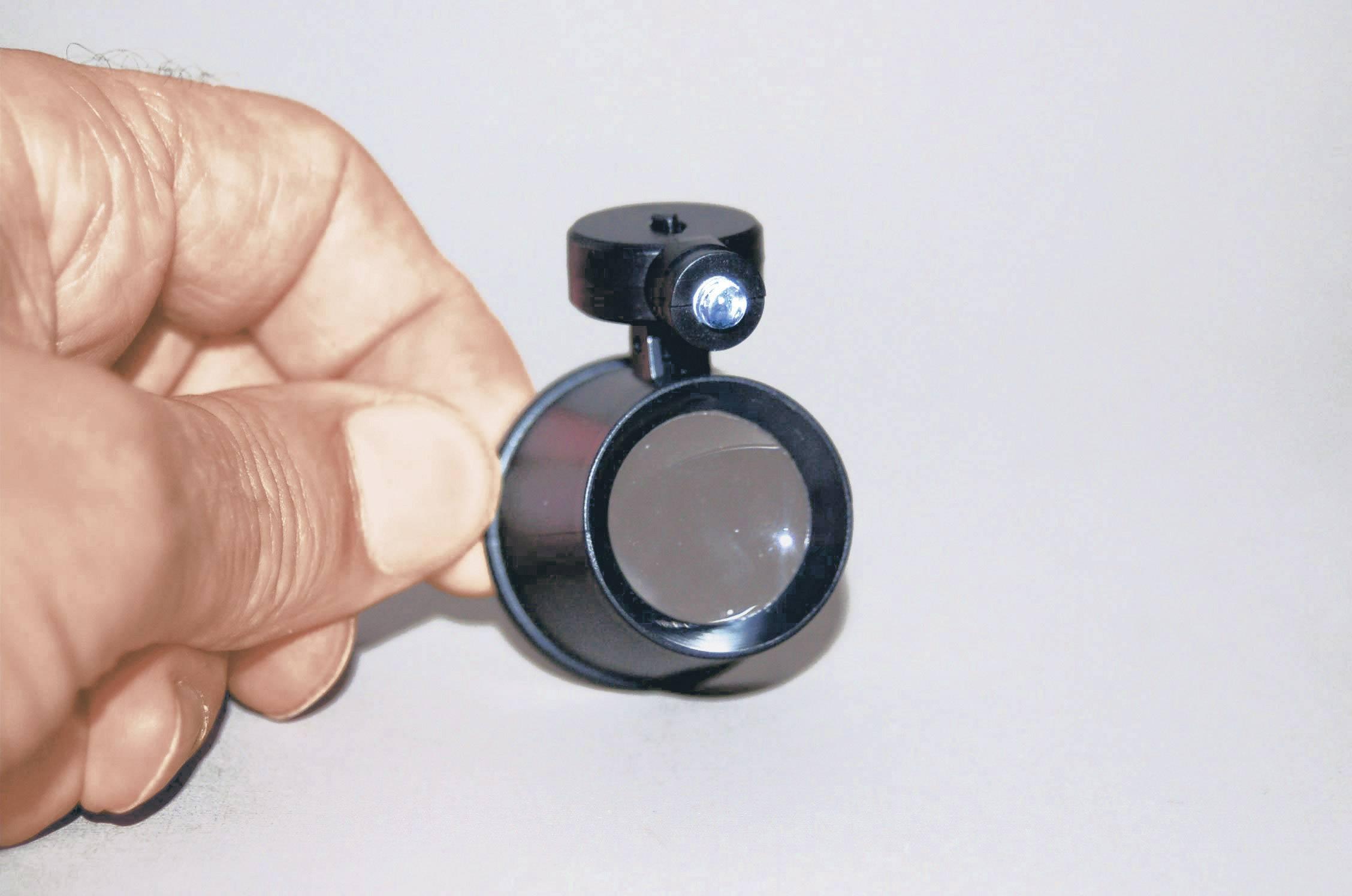 Hodinářská lupa s LED osvětlením LED RONA 450513, 21 mm, 10x