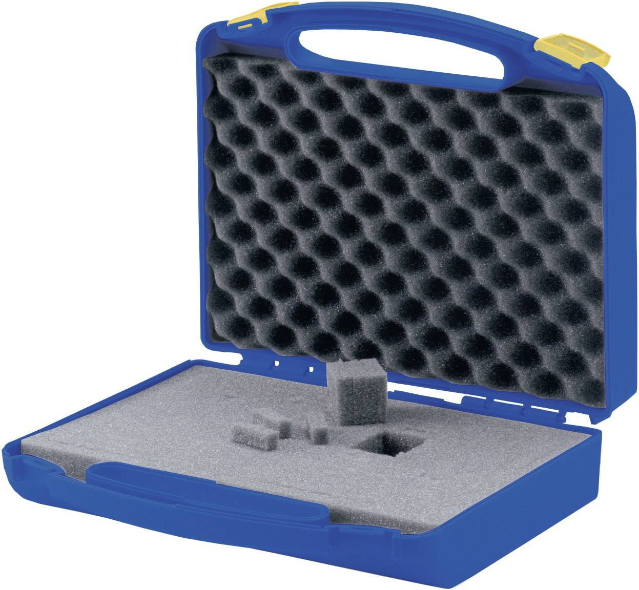 Plastový kufr s pěnovou výplní, 280 x 250 x 85 mm, modrá