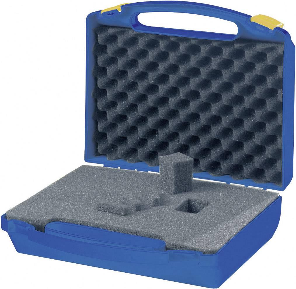 Plastový kufr s pěnovou výplní, 280 x 250 x 100 mm, modrá