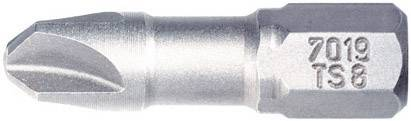 Bit Torq Wiha 7019 TS ZOT 4X25 TORQ-SET 22591, 25 mm, chróm-vanadiová oceľ, tvrdené, 1 ks