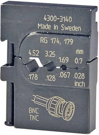 Krimpovací nástavec Pressmaster 4300-3140 4300-3140, pre druhy káblov RG316 /U, RG303, RG188 A/U, RG187 A/U, RG180 B/U, RG179 B/U, RG179, RG174 A/U, RG174, RG122 /U, ATT.LOV.FITS4_BRAND_PLIERS Pressmaster, MCT