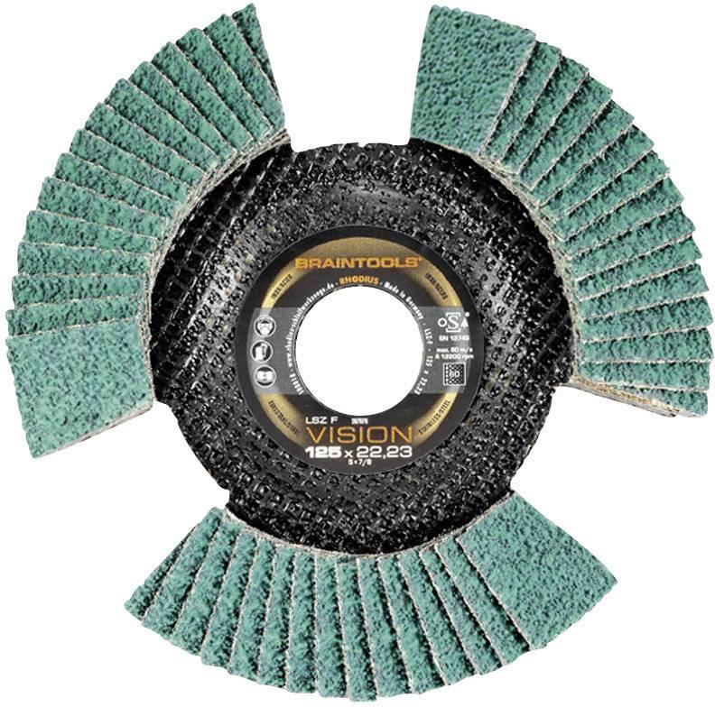 Lamelový brúsny kotúč Rhodius LSZ F VISION 207085, Ø 115 mm/22,23 mm, zrnitost 80