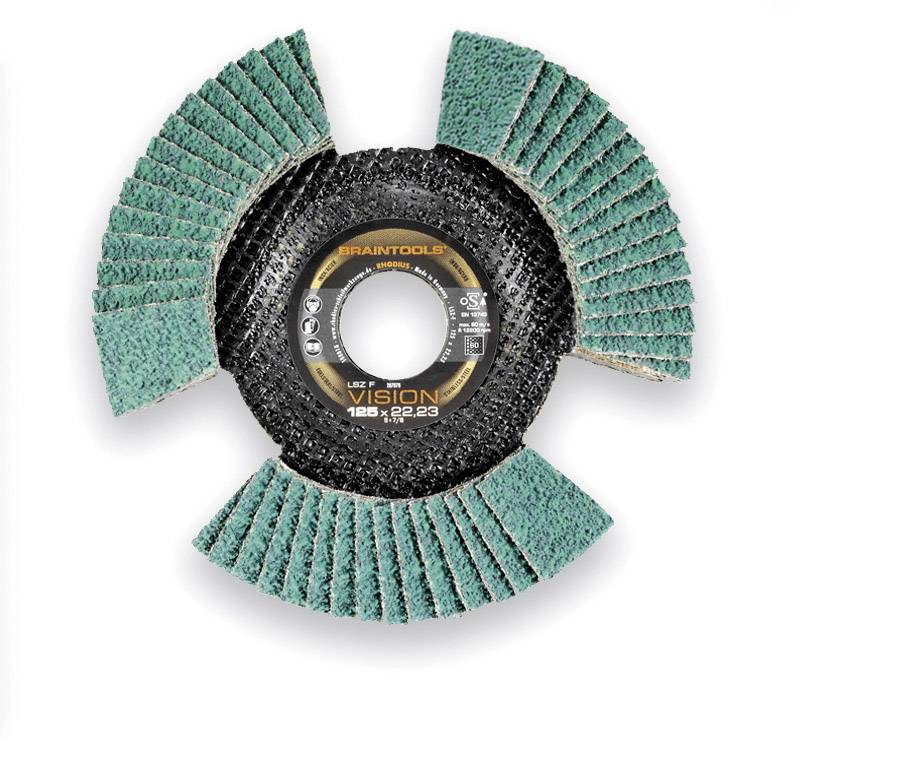 Lamelový brúsny kotúč Rhodius LSZ F VISION 207078, Ø 125 mm/22,23 mm, zrnitost 60