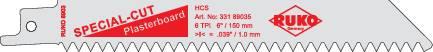 5dílná šavlovitých pilových listů 150 mm 8903-5