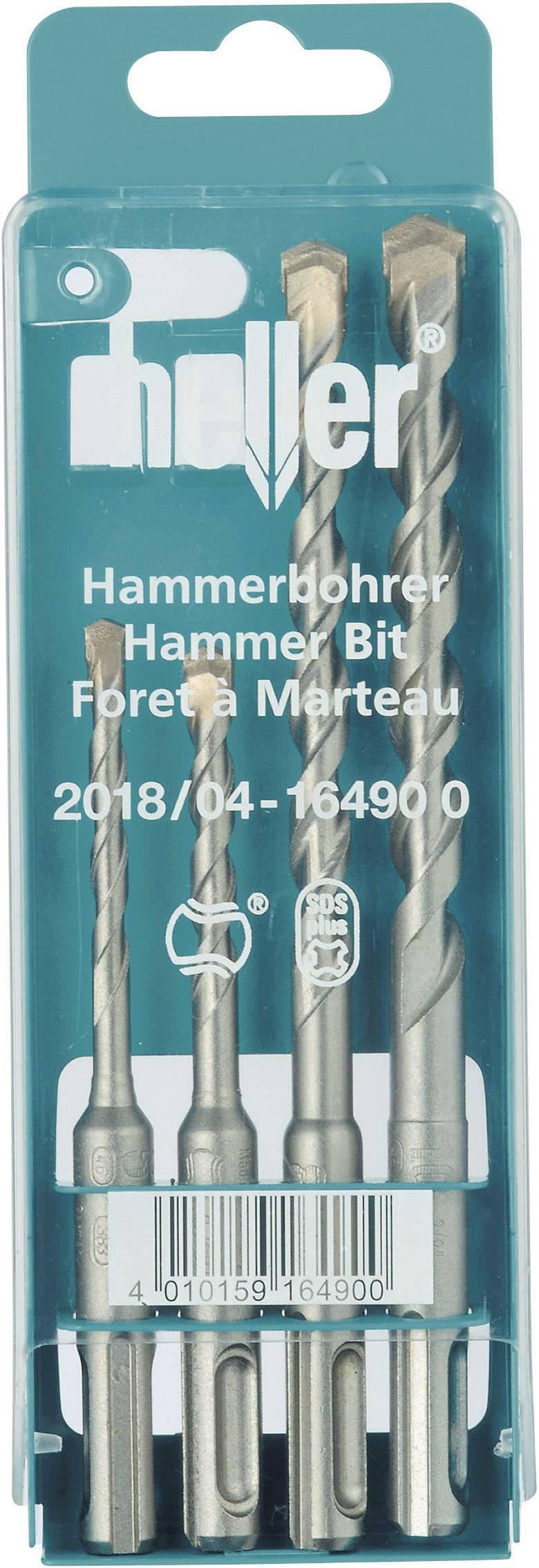 Tvrdý kov sada kladivových vrtákov Heller 16490 0, 5 mm, 6 mm, 8 mm, 10 mm, 1 sada
