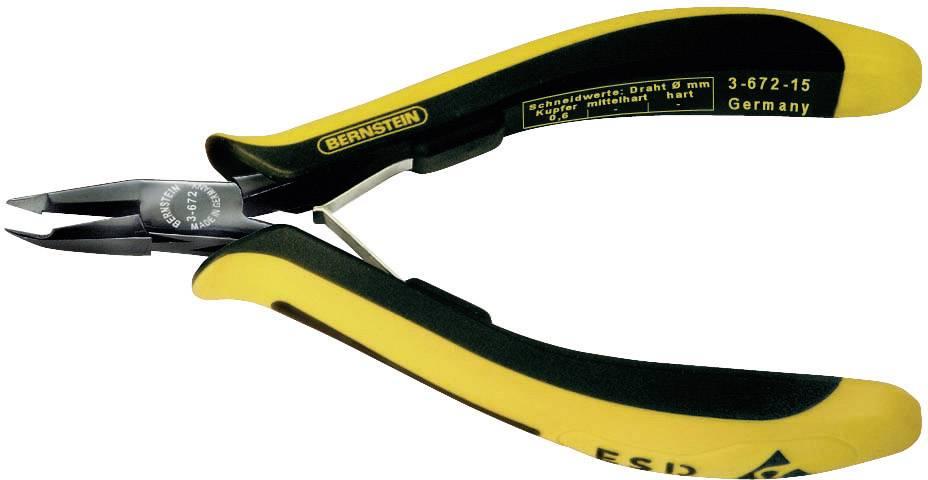 Kleště šikmé štípací se špičkou Knipex Bernstein 3-672-15 ESD, 130 mm
