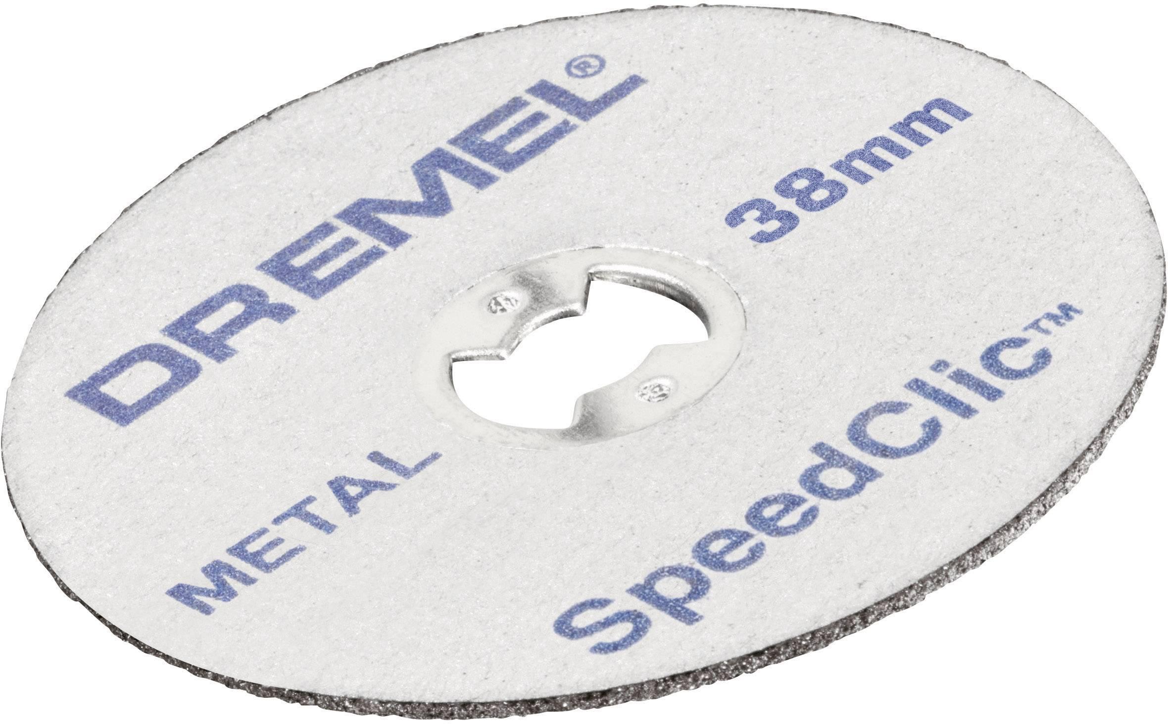 12 ks kovových rozbrušovacích kotoučů SpeedClic Dremel SC456, prům. 38 x 3,2 mm