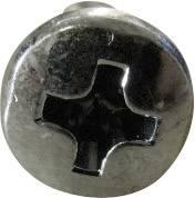 Šošovkové skrutky TOOLCRAFT 815322, DIN 7985, M3, 6 mm, oceľ, 100 ks