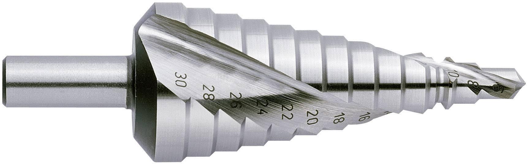 HSS stupňovitý vrták Exact 07005, 6 - 36 mm, kužeľový záhlbník, 1 ks
