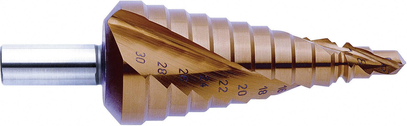 HSS stupňovitý vrták Exact 07011, 4 - 12 mm, TiN, kužeľový záhlbník, 1 ks