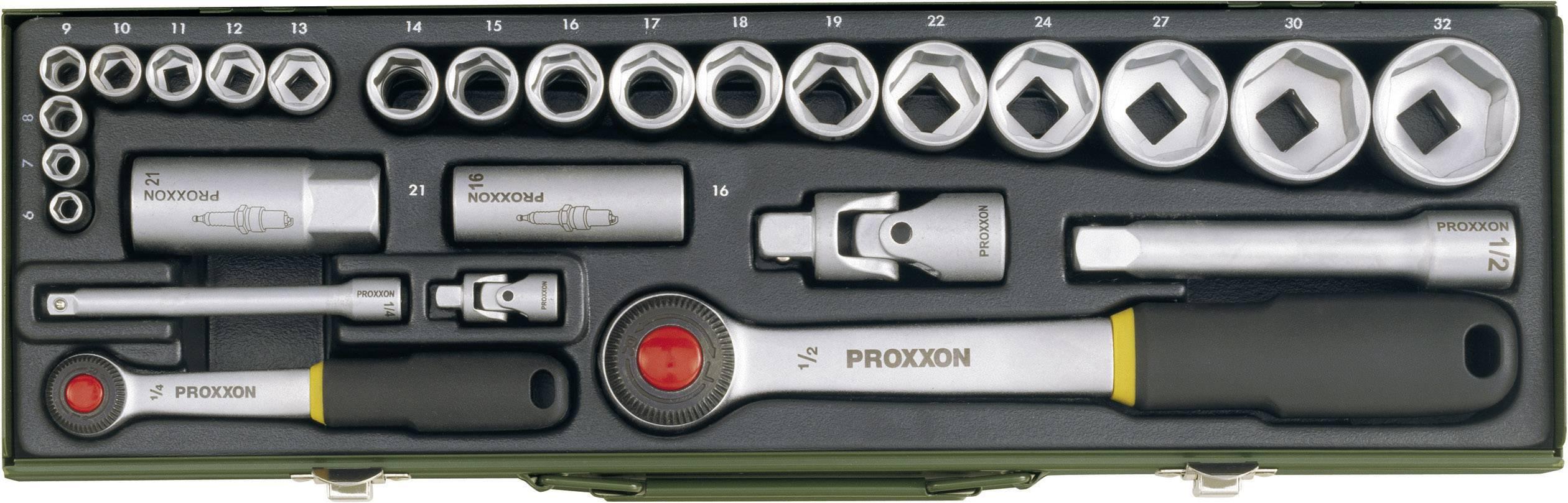 """Sada nástrčných kľúčov Proxxon Industrial 23020, 1/4"""" (6,3 mm), 1/2"""" (12.5 mm), 27-dielna"""